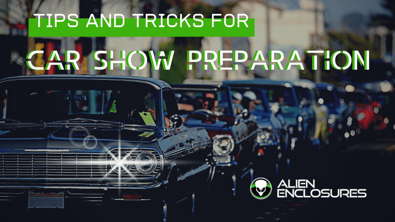 tips and tricks for car show preparation with line of cars waiting to get into car show